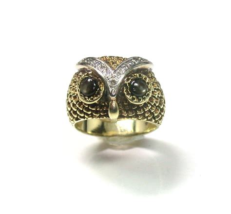 Owl Gold wonderful gold owl ring from ellenring on ruby