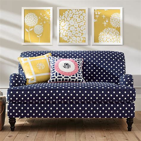 polka dot sofa custom simple rooms that use polka dot design twists to look adorable