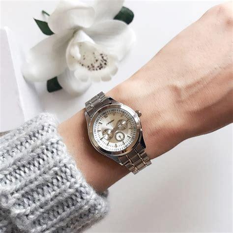 Jam Sinobi sinobi jam tangan analog wanita 9285 silver