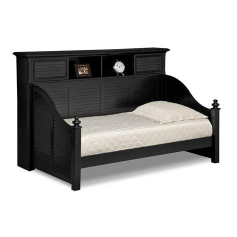 seaside black ii furniture bookcase daybed value