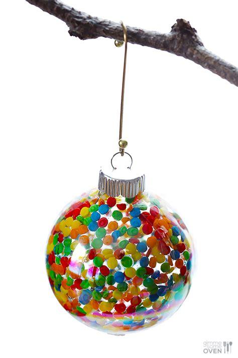 diy sprinkles ornaments gimme  oven