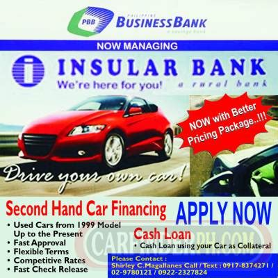 bank auto loans second car financing insular bank new and used