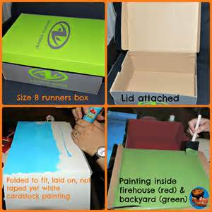 How To Make A Shoe Box Out Of Paper - white house station firehouse crafts