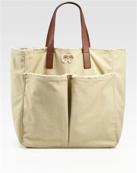 Anya Hindmarch Large Nevis Tote by Anya Hindmarch Nevis Canvas Tote Bag In Beige Lyst