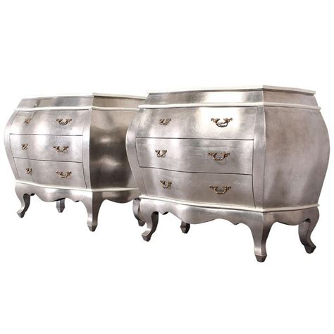 pair of italian style silver leaf bombay chests at 1stdibs