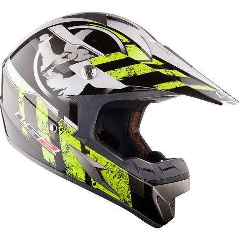 ls2 motocross ls2 mx433 92 stripe black hi vis yellow motocross helmet