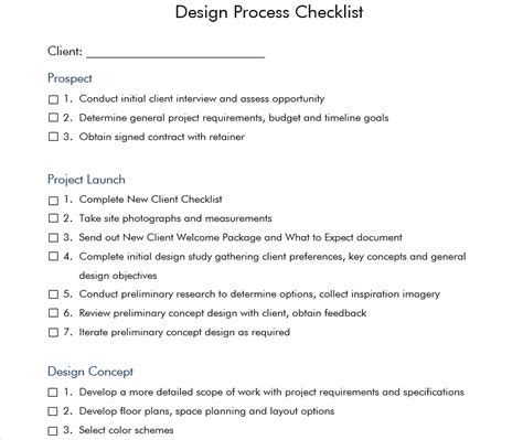 home interior design checklist the cost of inefficiency in the interior design firm