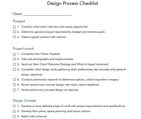 Julia Molloy Interior Design Process Checklist Design The Interior Design Process