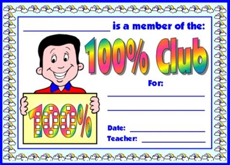 Out 100 Awards 2 by 100 Percent Club Sticker Charts Incentive Charts For