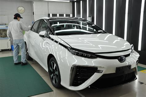 toyota line of cars behind the scenes of toyota mirai production only 3 made