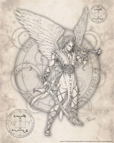 angel uriel tattoo archangel gabriel by jayfrench on deviantart