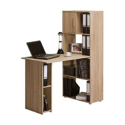 computer desk with shelves alfie sonoma oak finish computer desk with shelves 22885