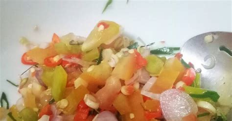 resep sambal matah enak  sederhana cookpad