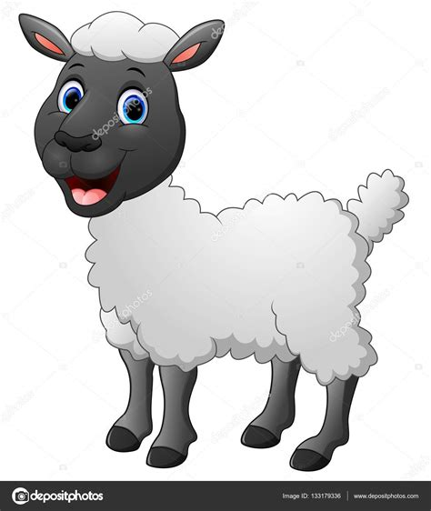 imagenes animadas de ovejas dibujos animados divertida oveja posando aislada sobre