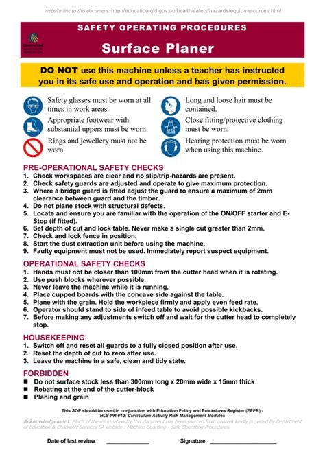 Safety Procedure Safe Procedure Template