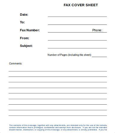 fax cover templates psd eps word format