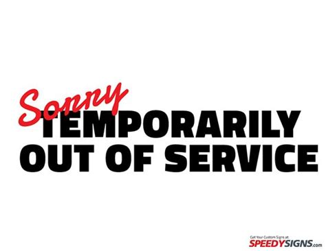 Temporarily Out Of Service Sign For Electronics And Screens Iammom Running A Household Out Of Service Sign Template