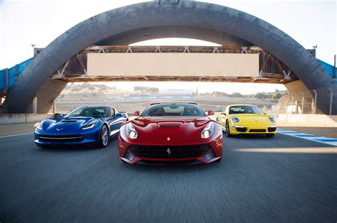porsche ferrari 2014 chevrolet corvette stingray z51 vs 2014 ferrari f12