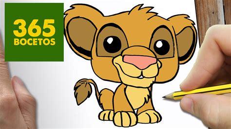 imagenes de leones kawaii como dibujar simba kawaii paso a paso dibujos kawaii