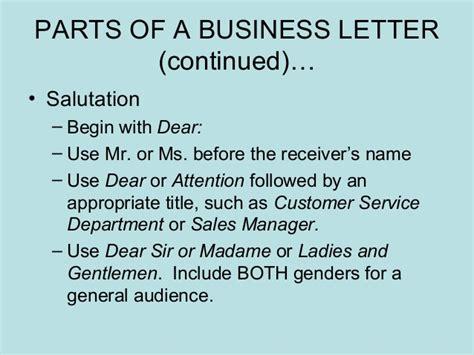 business letter salutation dear sir or madam business letters power point presentation 1205268709446738 3