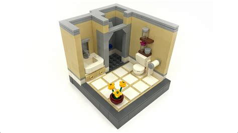 tutorial lego guest bathroom lego bathroom moc awesome tiled floor technique youtube
