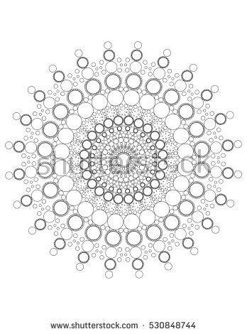 dot pattern mandala mandala stone dots stock illustration 476705068 shutterstock