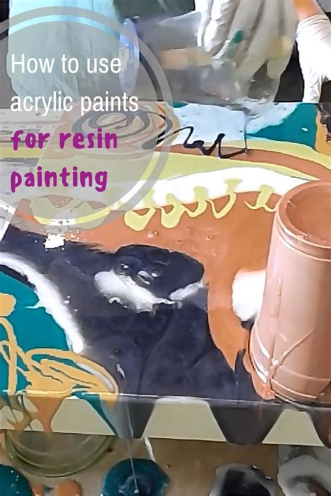 mixing acrylic paint with resin on canvas how to mix acrylic paints into resin and use them to