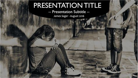 templates powerpoint bullying free school bullying powerpoint template 10524 sagefox