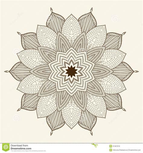 flower pattern easy to draw mandala beautiful hand drawn flower stock vector image