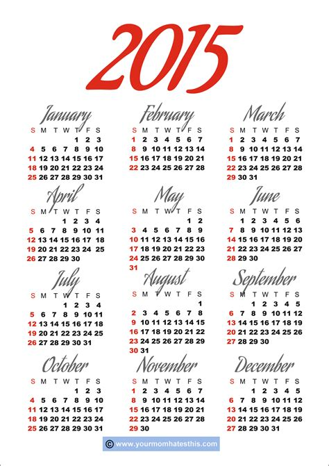 free download printable planner 2015 download printable 2015 calendar