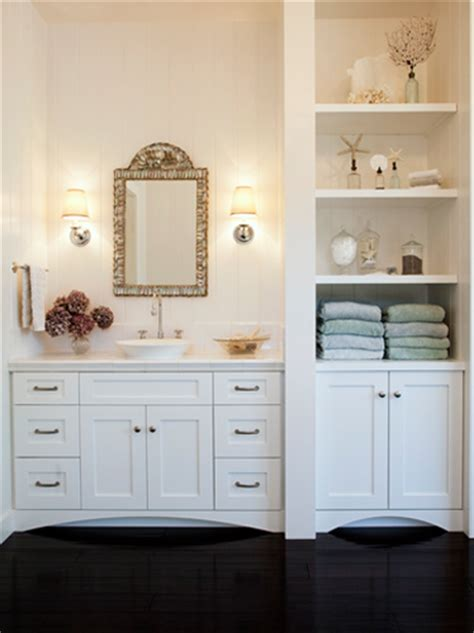 Built In Bathroom Furniture Built In Bathroom Cabinet Traditional Bathroom