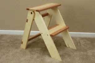 wooden folding step stool by thorinoakenshield