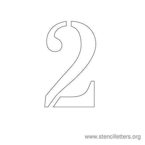 number 2 template number stencils 1 10 stencil letters org