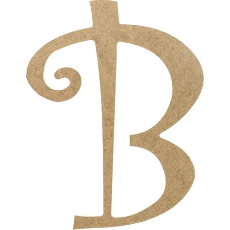 14 quot decorative wooden curly letter b ab2146