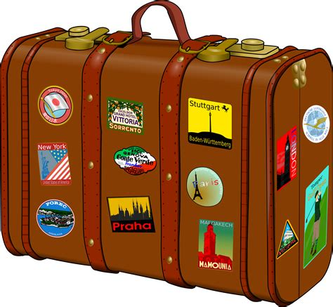 Koffer Mit Sticker by Clipart Suitcase With Stickers
