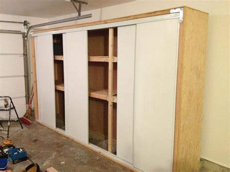 Sliding Door Cabinet Plans 1000 Images About Garage Storage On Garage Shelf Diy Garage Storage And Overhead