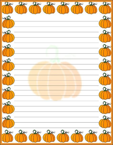pumpkin writing paper 217 best autumn borders images on fall
