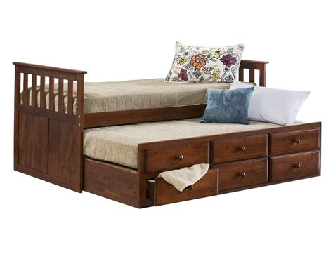slumber up bed slumberland knollwood collection chocolate captains
