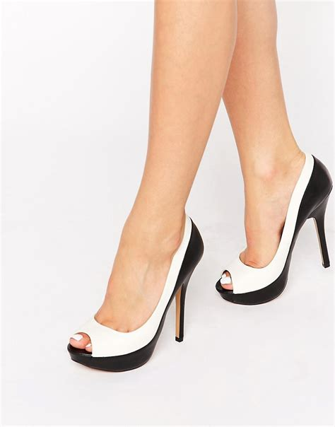 Barratts Platform Peep Toes by Aldo Aldo Adrenasa Peep Toe Platform Court Shoes At Asos