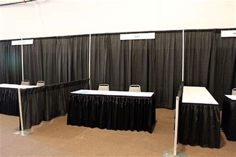 trade show curtains pipe drape temporary booth spaces fabric fire