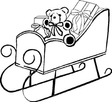 coloring pages of santa sleigh sleigh coloring pages santa sleigh printables learn to