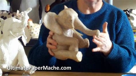 How To Make Clay Out Of Paper - paper mache elephant