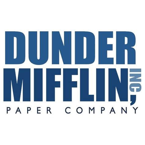 dunder mifflin dunder mifflin the office logo sticker logos the