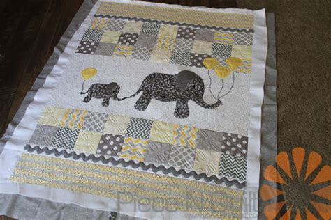 Baby Elephant Quilt by N Quilt Baby Elephant Quilt Custom Machine