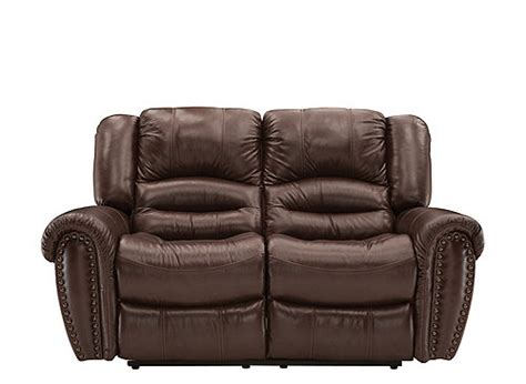 cole leather reclining sofa cole leather reclining loveseat dark brown raymour