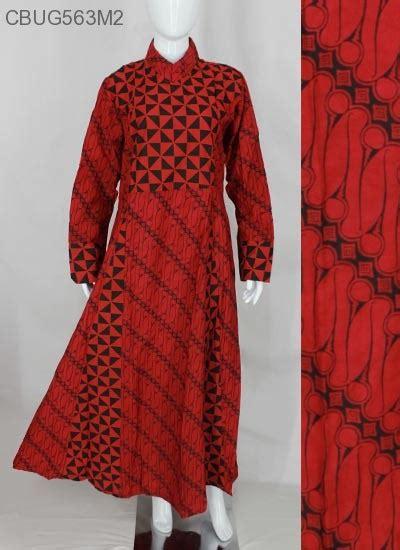 Batik Syari Merah comfy syari dress batik merah dua gamis batik murah