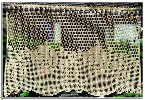patrones cortinas ganchillo cortinas en crochet filet 4 patrones gratis