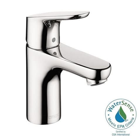 Hansgrohe Focus 100 Single Hole 1 Handle Low Arc Bathroom Faucet in Chrome 04371000   The Home Depot