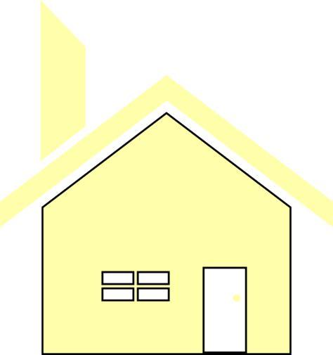 yellow simple house clip art  clkercom vector clip