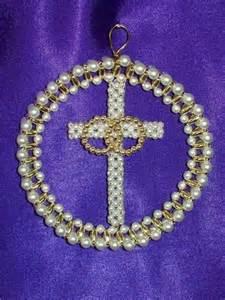 marriage symbol chrismon style ornament bead craft kit